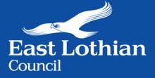 East Lothian white logo